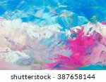 abstract oil paint texture on... | Shutterstock . vector #387658144