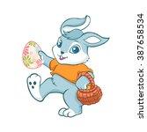 easter bunny rabbit.cartoon...   Shutterstock .eps vector #387658534
