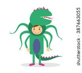 monster party costume | Shutterstock . vector #387663055