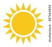yellow sun burst icon isolated... | Shutterstock .eps vector #387664834