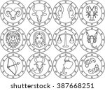 vector illustration of  12... | Shutterstock .eps vector #387668251