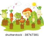 illustration of vegetables on... | Shutterstock . vector #38767381