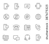 lines icon set   communication | Shutterstock .eps vector #387675325
