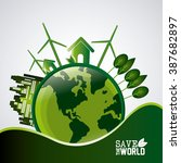 save world design  | Shutterstock .eps vector #387682897