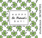 st. patrick's day flat thin...   Shutterstock .eps vector #387687001