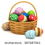 3d Illustration. Easter Eggs I...