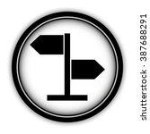 direction sign   vector icon ... | Shutterstock .eps vector #387688291