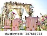 wedding set up | Shutterstock . vector #387689785