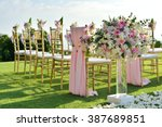 wedding set up | Shutterstock . vector #387689851