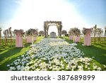 wedding set up | Shutterstock . vector #387689899