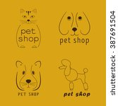 set of vector logos for pet...   Shutterstock .eps vector #387691504