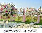 wedding set up | Shutterstock . vector #387695281