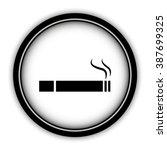 cigarette   vector icon  round  ... | Shutterstock .eps vector #387699325