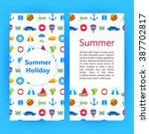 summer holiday flyer brochure... | Shutterstock .eps vector #387702817