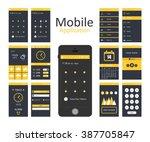 mobile application interface... | Shutterstock .eps vector #387705847