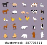 Set Of Farm Animals. Set Of...