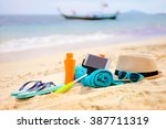 vacation and technology. must... | Shutterstock . vector #387711319
