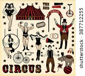 big top circus stars set | Shutterstock .eps vector #387712255