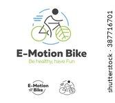 e motion bike logotype  for eco ... | Shutterstock .eps vector #387716701