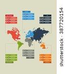 flat infographics template map...   Shutterstock .eps vector #387720154