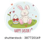 happy easter  easter bunny and... | Shutterstock .eps vector #387720169