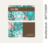 template business cards with... | Shutterstock .eps vector #387724009
