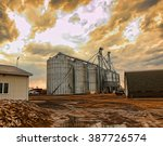 agricultural grain silos work... | Shutterstock . vector #387726574
