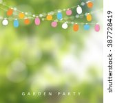 birthday garden party or... | Shutterstock .eps vector #387728419
