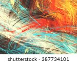 bright artistic splashes.... | Shutterstock . vector #387734101