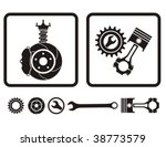 car absorber  brake  engine... | Shutterstock .eps vector #38773579