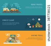 camping  hiking and trailering... | Shutterstock .eps vector #387738121