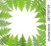 jungle poster. fern frond... | Shutterstock .eps vector #387739729