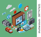 newscast  information ... | Shutterstock .eps vector #387747631