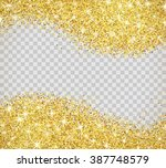 gold glitter texture isolated... | Shutterstock .eps vector #387748579