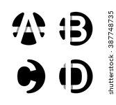capital letters a  b  c  d.... | Shutterstock .eps vector #387748735