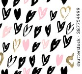 pattern of glitter and pink... | Shutterstock .eps vector #387754999