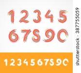 painted vector numbers | Shutterstock .eps vector #387755059