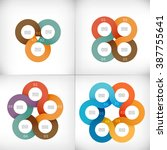 collection of infographics... | Shutterstock .eps vector #387755641
