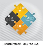 puzzle pieces diagram with four ... | Shutterstock .eps vector #387755665