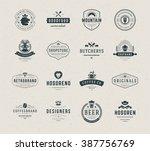 vintage logos design templates... | Shutterstock .eps vector #387756769