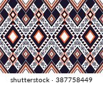 geometric ethnic oriental... | Shutterstock .eps vector #387758449