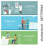 healthcare and clinics banners... | Shutterstock .eps vector #387759064
