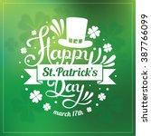 saint patrick's day hand... | Shutterstock .eps vector #387766099