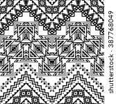 seamless hand drawn chevron... | Shutterstock .eps vector #387768049