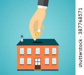 vector investment concept in... | Shutterstock .eps vector #387768571