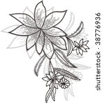 flower embroidery   Shutterstock .eps vector #38776936