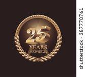 25 years anniversary... | Shutterstock .eps vector #387770761