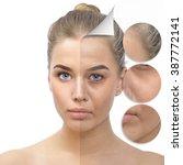 anti aging concept. beautiful... | Shutterstock . vector #387772141