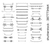 set of graphical design... | Shutterstock .eps vector #387773464
