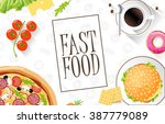 fast food flat banner. for... | Shutterstock .eps vector #387779089